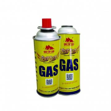 300ml / 250ml / 220ml  high quality butane gas cylinder camping gas tank bottle lighter power