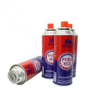 Camping Round Shape propane / butane gas canister