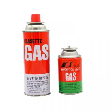 Screw type butane gas canister in various sizes for camping gas stove for portable gas stove
