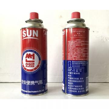 Propane butane gas cartridge for refilling butane gas with DOT 2Q standard gas cylinder 190 gr