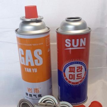 Camping Round Shape Butane aerosol cans 227g and butane gas cartridge