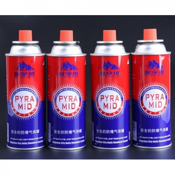 China MSDS Camping Butane Gas Cylinder lighter gas refill 250ml