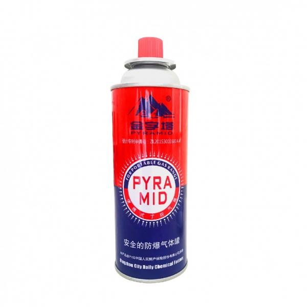 High Performance Empty 220g refillable 190g portable refill tin aerosol camping butane gas cartridge can