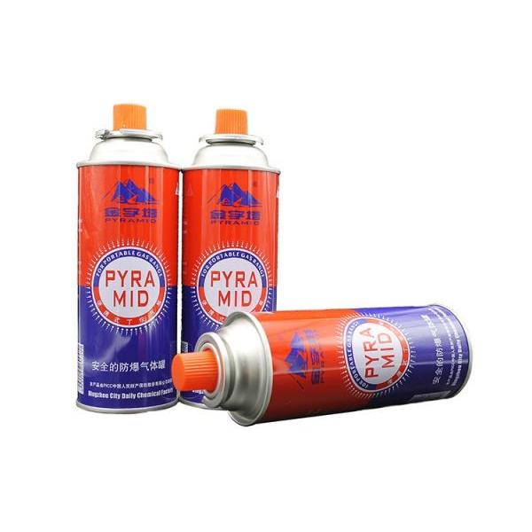 Empty 220g refillable 190g portable refill tin aerosol camping butane gas cartridge can for barbecue in the wild