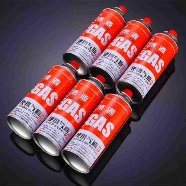 China empty 220g camping butane gas cartridge and round shape portable butane gas cartridge 220g  for Butane Gas / Stove